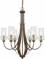Capital Lighting 411661RT-322 Rowan Rustic Chandelier Lamp