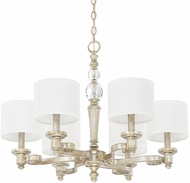 Capital Lighting 411761GS-654 Carlyle Gilded Silver Ceiling Chandelier