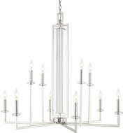 Capital Lighting 411901PN Hudson Modern Polished Nickel Hanging Chandelier