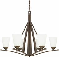 Capital Lighting 412361BB-324 Boden Contemporary Burnished Bronze Chandelier Light