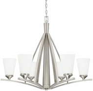 Capital Lighting 412361BN-324 Boden Modern Brushed Nickel Ceiling Chandelier