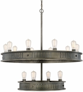 Capital Lighting 413201GM Nash Retro Gunmetal Chandelier Lighting
