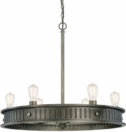 Capital Lighting 413261GM Nash Vintage Gunmetal Lighting Chandelier