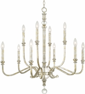 Capital Lighting 413301SG Charleston Silver and Gold Leaf Chandelier Lamp