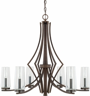 Capital Lighting 413561BB-326 Stella Contemporary Burnished Bronze Chandelier Light