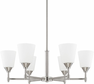 Capital Lighting 413761BN-329 Langley Brushed Nickel Hanging Chandelier