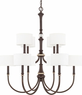 Capital Lighting 414901CZ-660 Asher Champagne Bronze Lighting Chandelier