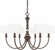 Capital Lighting 414961CZ-660 Asher Champagne Bronze Chandelier Lamp