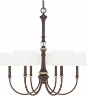 Capital Lighting 414962CZ-660 Asher Champagne Bronze Chandelier Light