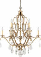 Capital Lighting 4180AG-CR Blakely Antique Gold Chandelier Lamp