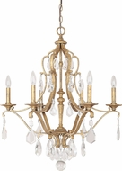 Capital Lighting 4186AG-CR Blakely Antique Gold Lighting Chandelier