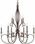 Capital Lighting 418701DS Kingsley Dark Spice Ceiling Chandelier