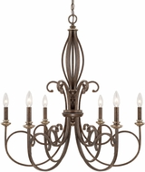 Capital Lighting 418761DS Kingsley Dark Spice Hanging Chandelier