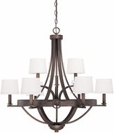 Capital Lighting 4209TB-546 Chastain Tobacco Chandelier Light