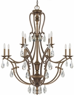 Capital Lighting 4292SD-000-CR Claybourne Traditional Suede Chandelier Light