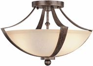 Capital Lighting 4334RT-MS Soho Rustic Semi-Flush Ceiling Lighting