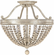 Capital Lighting 4444SQ Adele Traditional Silver Quartz Semi-Flush Ceiling Light Fixture