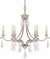 Capital Lighting 4496SQ-000-CR Harlow Silver Quartz Chandelier Light