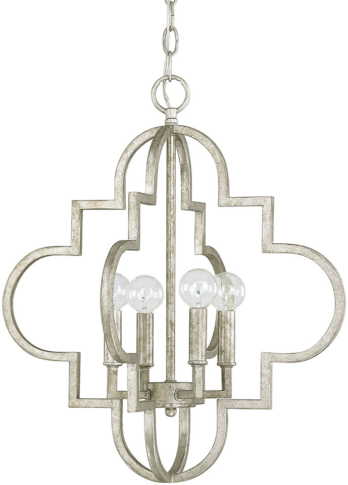 Capital lighting 4541as ellis antique silver ceiling light pendant loading zoom