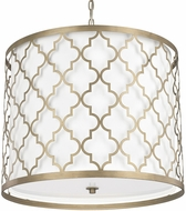 Capital Lighting 4543BG-578 Ellis Brushed Gold Drum Pendant Light