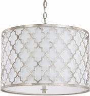 Capital Lighting 4545AS-582 Ellis Antique Silver Drum Hanging Lamp
