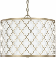 Capital Lighting 4545BG-582 Ellis Brushed Gold Drum Hanging Light