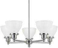 Capital Lighting 4555PN-128 Baxter Polished Nickel Chandelier Light