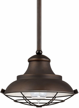 Capital Lighting 4567BB Nautical Burnished Bronze Mini Hanging Light Fixture