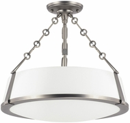 Capital Lighting 4585AN-588 East Village Contemporary Antique Nickel Semi-Flush Flush Mount Lighting