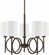 Capital Lighting 4675BB-590 Halo Burnished Bronze Chandelier Lighting