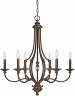 Capital Lighting 4706BB-000 Leigh Burnished Bronze Chandelier Lamp