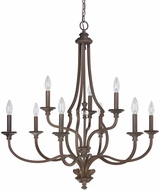 Capital Lighting 4709BB-000 Leigh Burnished Bronze Chandelier Light