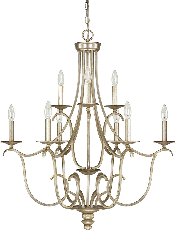 Capital Lighting 4729WG000 Bailey Winter Gold Chandelier Light