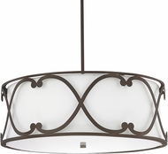 Capital Lighting 4744BB-611 Alexander Burnished Bronze Drum Hanging Lamp