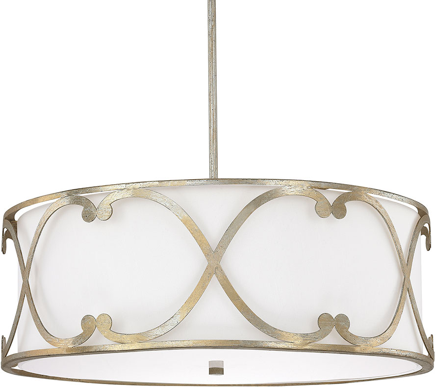 Capital lighting 4744wg 611 alexander winter gold drum hanging light loading zoom