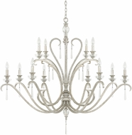 Capital Lighting 4782AS-000 Celine Antique Silver Chandelier Light