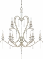 Capital Lighting 4788AS-000 Celine Antique Silver Chandelier Light