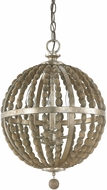 Capital Lighting 4793TZ Lowell Contemporary Tuscan Bronze with Wood Beads Pendant Hanging Light