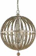 Capital Lighting 4794TZ Lowell Modern Tuscan Bronze with Wood Beads Hanging Light Fixture