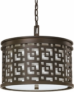 Capital Lighting 4873BB-620 Jasper Burnished Bronze Drum Drop Ceiling Lighting