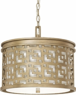Capital Lighting 4873BG-620 Jasper Brushed Gold Drum Ceiling Light Pendant
