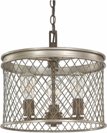 Capital Lighting 4883SZ Eastman Contemporary Silver and Bronze Pendant Light