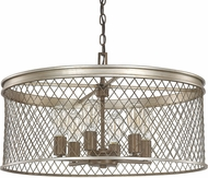 Capital Lighting 4886SZ Eastman Contemporary Silver and Bronze Pendant Lamp