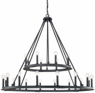 Capital Lighting 4910BI Pearson Modern Black Iron Lighting Chandelier