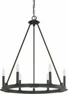 Capital Lighting 4916BI-000 Pearson Contemporary Black Iron Chandelier Light