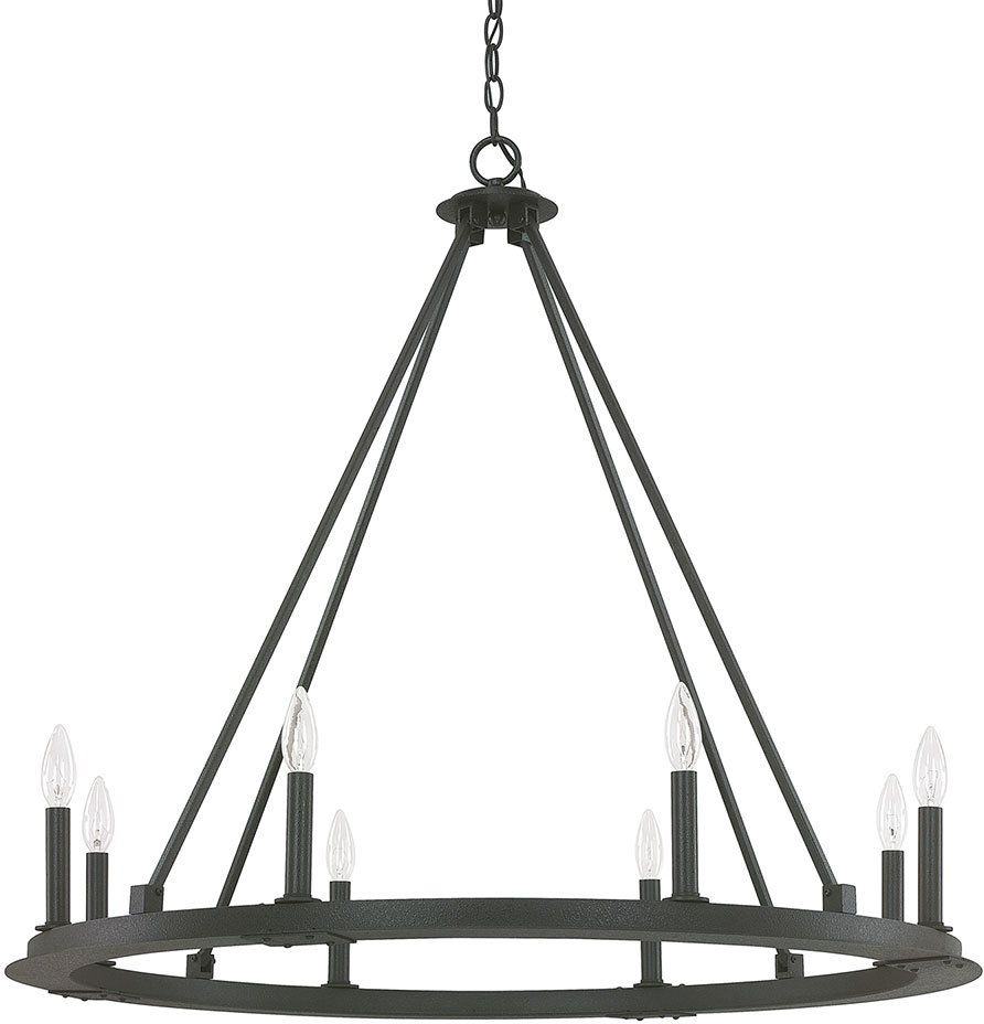 Capital Lighting 4918BI000 Pearson Modern Black Iron Chandelier