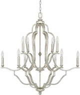 Capital Lighting 4940AS-000 Blair Contemporary Antique Silver Chandelier Lamp