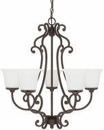 Capital Lighting 4945BB-242 Terrace Burnished Bronze Chandelier Lamp
