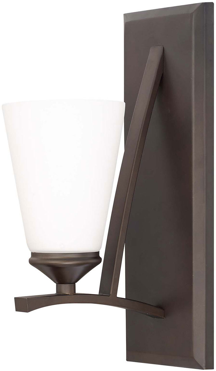 Modern Bronze Wall Sconces : Capital Lighting 612311BB-324 Boden Contemporary Burnished Bronze Wall Sconce Light - CPT ...