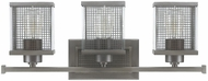 Capital Lighting 8033GR Carson Contemporary Graphite 3-Light Bathroom Lighting